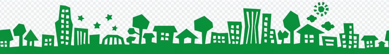城市街道剪影(綠色)