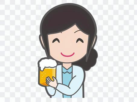 Cheers women with beer