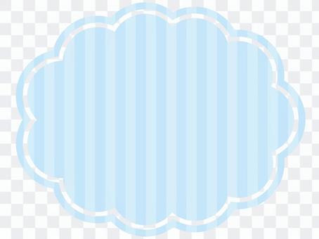 淺藍色條紋的雲架