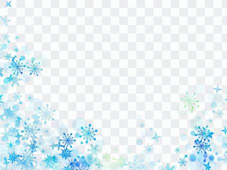 Snow crystal frame ver 07