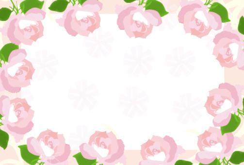 粉紅色的玫瑰花朵幀
