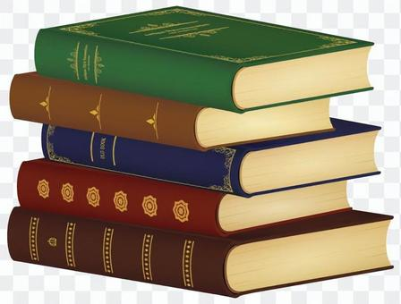 被堆積的舊書_五顏六色