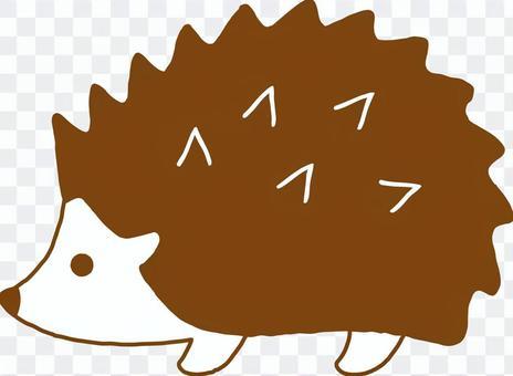 Harinezumi手繪(棕色)