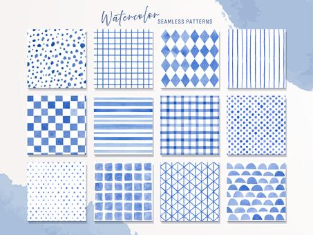 Simple handwritten pattern of watercolors