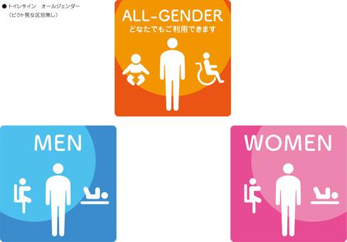 Toilet sign gender