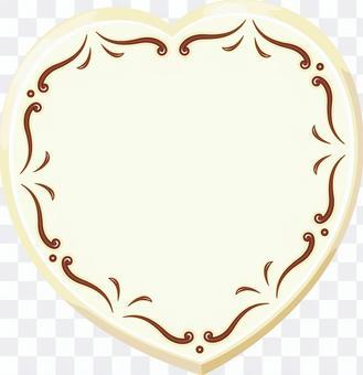 ハート型のホワイトチョコ バレンタイン