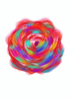 油畫風玫瑰多顏色
