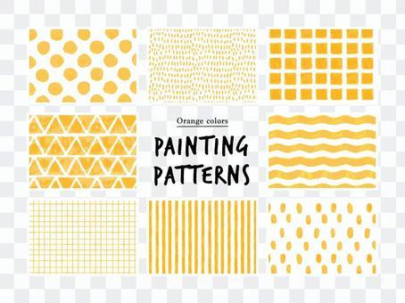 Simple hand-painted pattern / orange