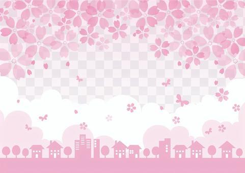 Cityscape frame _ spring cherry 04