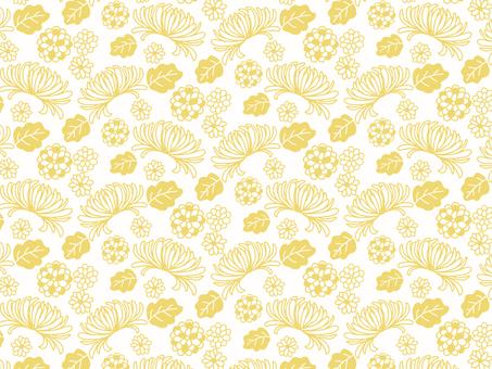 일본식 꽃 배경 ③ 국화 _ 노란색