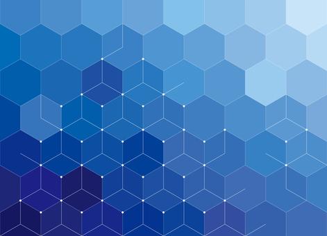 未來六邊形幾何圖案背景藍色