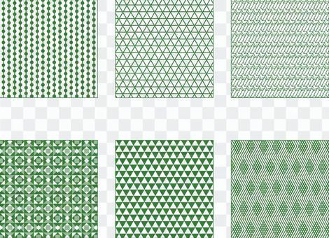 綠色簡單圖案2(透明背景)