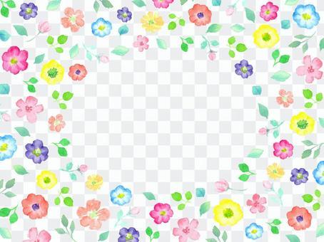 用水彩繪製的花卉留言卡