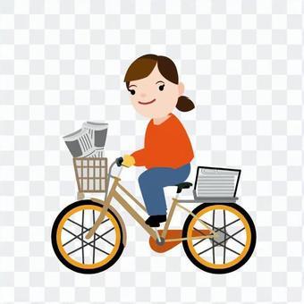送報騎自行車