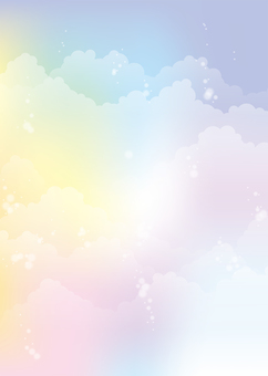 Seven-color empty background, A4 縦, Tu full pay