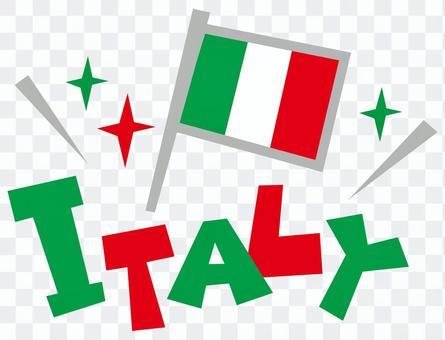 ITALY ☆ Italian flag pop-logo