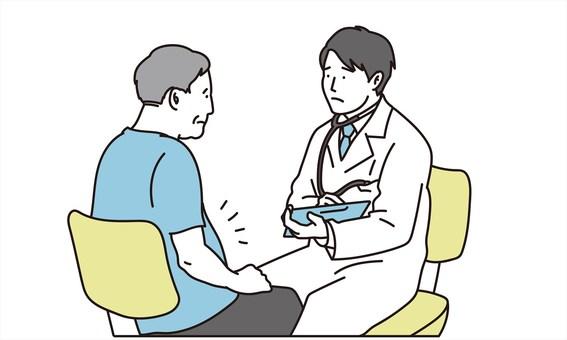診斷代謝綜合徵的男醫生