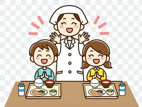 廚師和兒童的插圖
