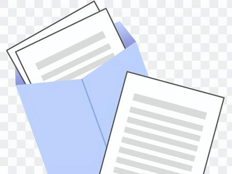 文件,信封藍色4