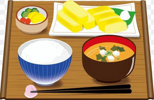 食物早餐(日本)大醬卷雞蛋