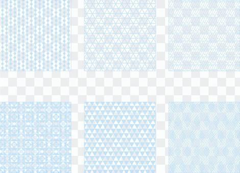 藍色簡單圖案2(透明背景)