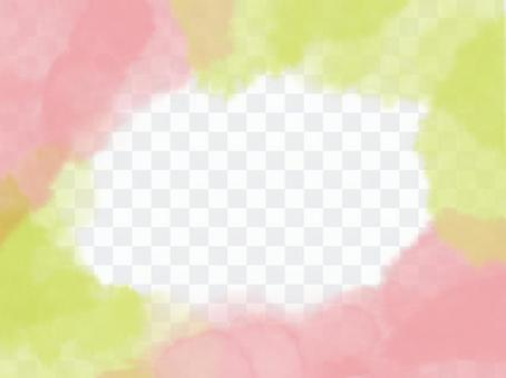 柔和地包裹著柔和的春天色彩的鏡框