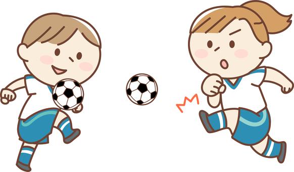 Soccer club shoot