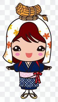 大原女(おおはらめ)京都・時代祭の女の子