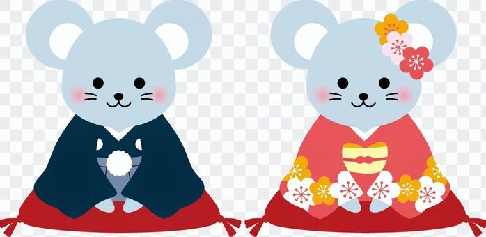 Childhood illustration of a kimono and kimono