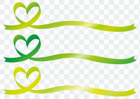 心臟絲帶框架框架背景絲帶綠豆