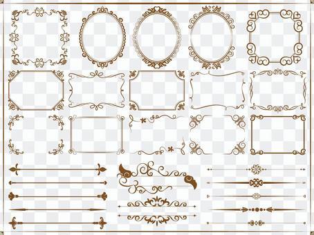 Assorted frames (elegant)