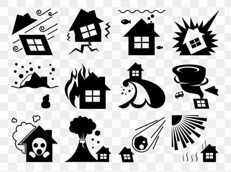 Disaster prevention icon black