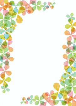 Clover background, A4 length, with feet