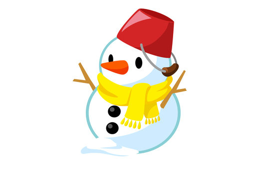 聖誕節圖標雪人