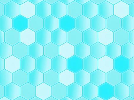 六角形 ブルー グラデーション 背景