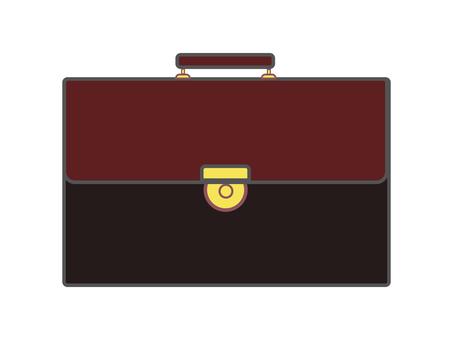 Leather bag 11-1 (black / brown)