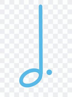 Dotted half note clef note