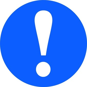 """Caution / round blue"" icon"