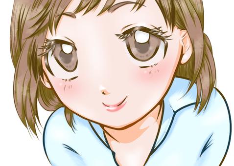 A girl with a good eye