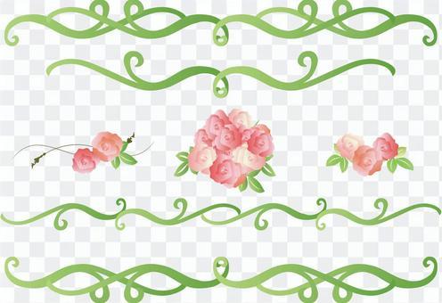 玫瑰裝飾綠色