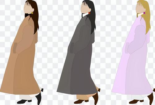 外套的女人