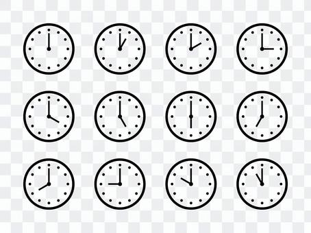 時鐘圖標集