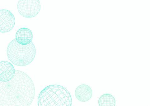 球形線框架紋理