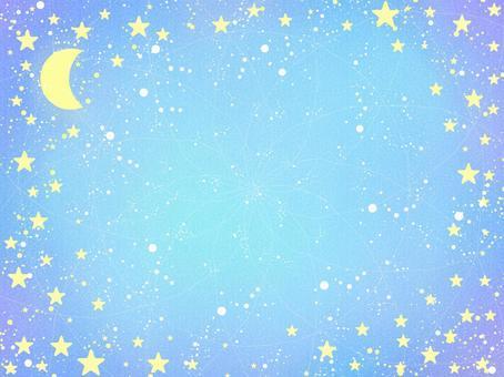 新月月亮和星星