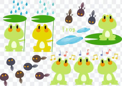 [Material | Set] Frog & Tadpole
