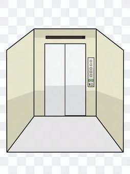 薄暗いエレベーター