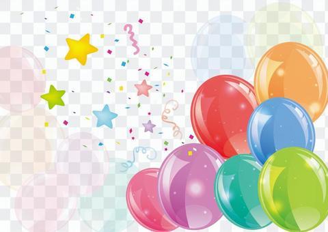 氣球和星星