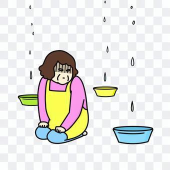 雨漏り 中年女性