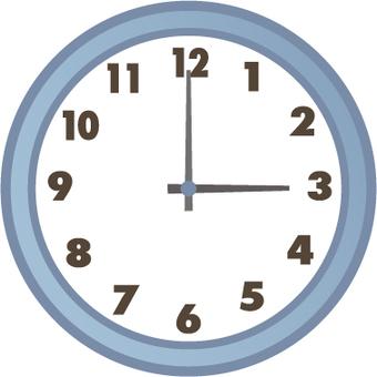 3 o'clock clock