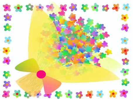 花束彩虹彩虹顏色圖標節日的花